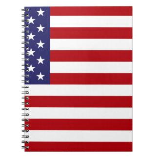 Caderno Espiral Bandeira americana - bandeira dos Estados Unidos -