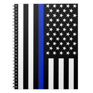 Caderno Espiral Bandeira americana fina de Blue Line