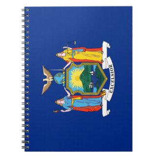 Caderno Espiral Bandeira da Nova Iorque