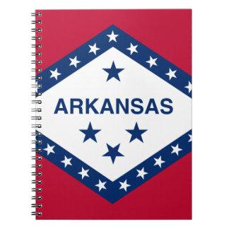 Caderno Espiral Bandeira de Arkansas