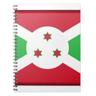 Caderno Espiral Bandeira de Burundi