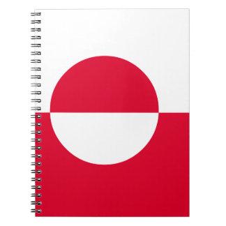 Caderno Espiral Bandeira de Greenland