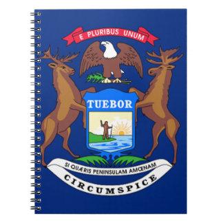 Caderno Espiral Bandeira de Michigan
