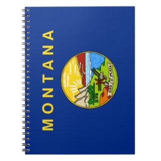 Caderno Espiral Bandeira de Montana