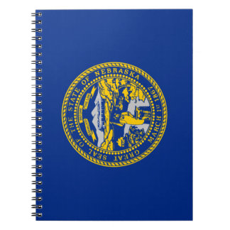 Caderno Espiral Bandeira de Nebraska
