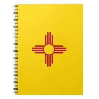 Caderno Espiral Bandeira de New mexico