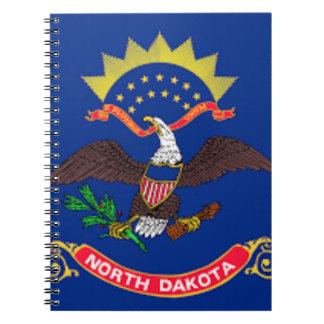 Caderno Espiral Bandeira de North Dakota