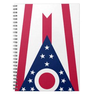 Caderno Espiral Bandeira de Ohio