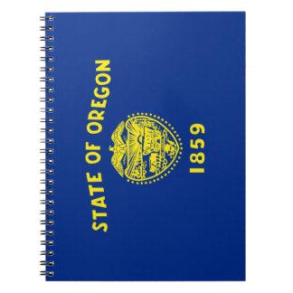 Caderno Espiral Bandeira de Oregon