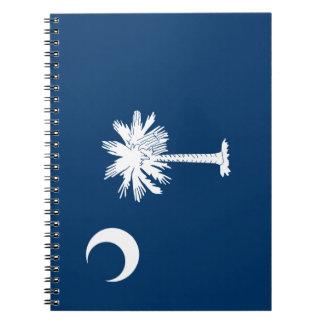 Caderno Espiral Bandeira de South Carolina