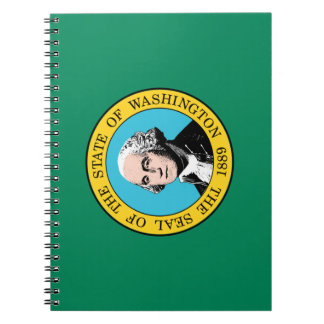 Caderno Espiral Bandeira de Washington