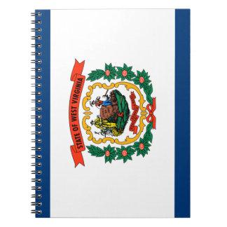 Caderno Espiral Bandeira de West Virginia