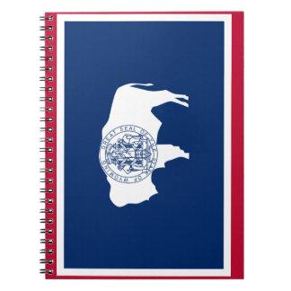 Caderno Espiral Bandeira de Wyoming