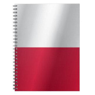Caderno Espiral Bandeira do Polônia