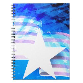Caderno Espiral Bandeira dos Estados Unidos