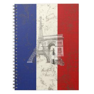 Caderno Espiral Bandeira e símbolos de France ID156