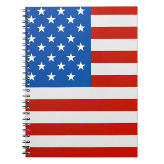 Caderno Espiral Bandeira nacional de Estados Unidos