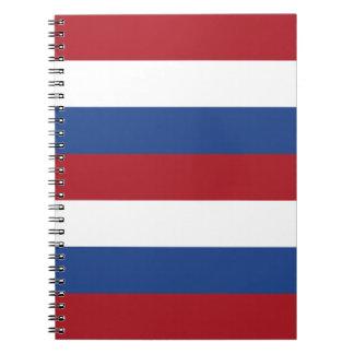 Caderno Espiral Bandeira nacional dos Países Baixos, Holland,