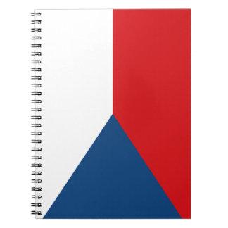 Caderno Espiral Bandeira patriótica da república checa