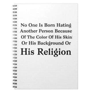 Caderno Espiral Barack Obama ninguém é nascido diando uma outra
