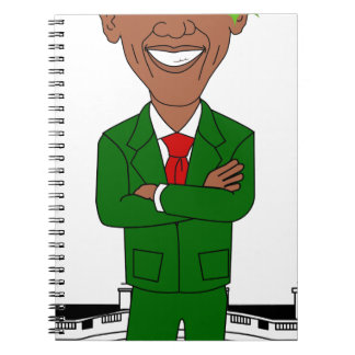 Caderno Espiral Barack Obama Papai Noel