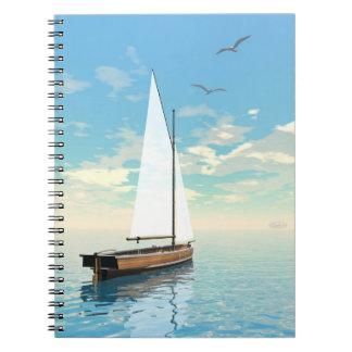 Caderno Espiral Barco de navigação - 3D rendem