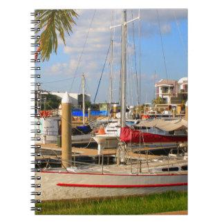 Caderno Espiral Barcos no porto, Darwin, Austrália