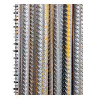 Caderno Espiral Bares de teste padrão de aço oxidados