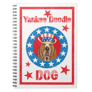 Caderno Espiral Basset patriótico