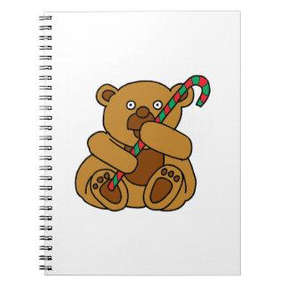 Caderno Espiral Bastão de doces do urso