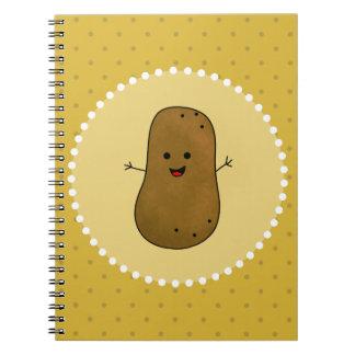 Caderno Espiral Batata feliz