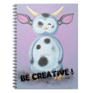 Caderno Espiral Be Criativo! Puik-Puik disfarça-se em vaca cracra