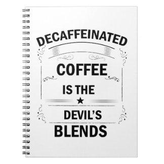 Caderno Espiral bebida engraçada do café