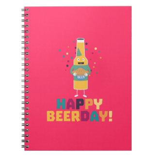 Caderno Espiral Beerday feliz Beerbottle Zhnp3