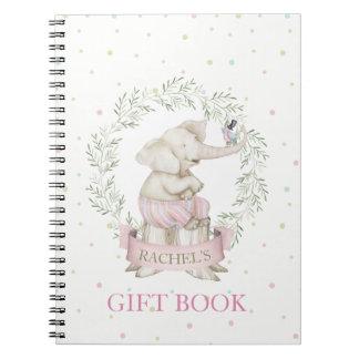 Caderno Espiral Bege do verde do rosa do chá de fraldas do