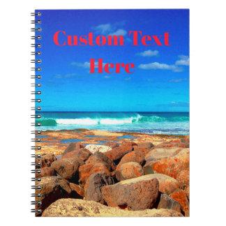 Caderno Espiral Beira-mar rochoso