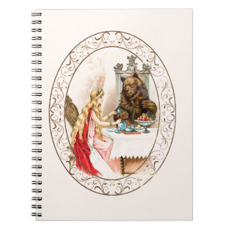 Caderno Espiral Beleza no rosa e no animal