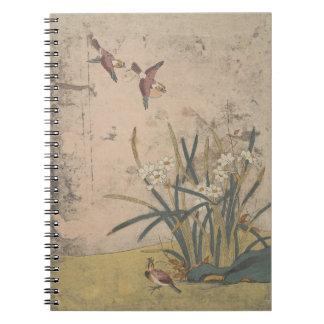 Caderno Espiral Birds and Narcissus