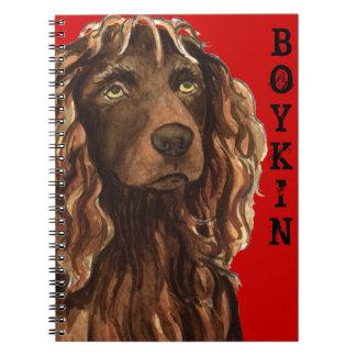 Caderno Espiral Bloco da cor do Spaniel de Boykin