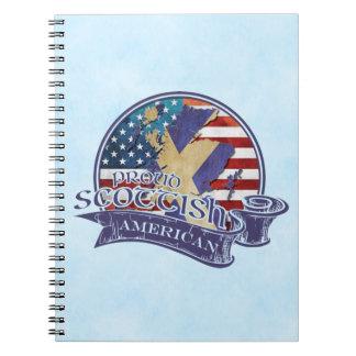 Caderno Espiral Bloco de notas americano escocês orgulhoso