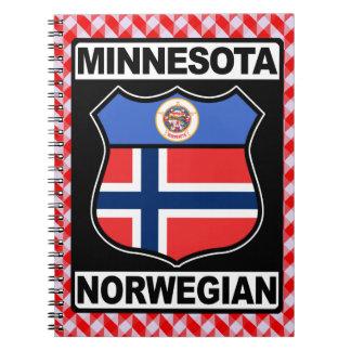 Caderno Espiral Bloco de notas americano norueguês de Minnesota