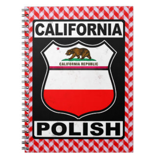 Caderno Espiral Bloco de notas americano polonês de Califórnia