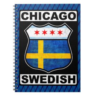 Caderno Espiral Bloco de notas americano sueco de Chicago