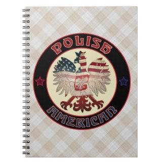 Caderno Espiral Bloco de notas branco americano polonês de Eagle