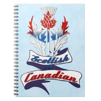 Caderno Espiral Bloco de notas canadense escocês do cardo