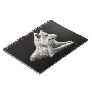 """Caderno Espiral """"Bloco de notas do lobo solitário"""""""