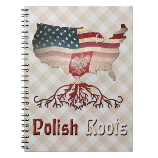 Caderno Espiral Bloco de notas polonês das raizes do americano