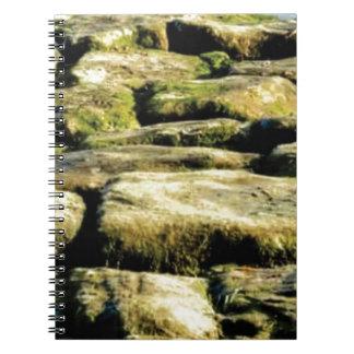 Caderno Espiral blocos do amarelo de rocha