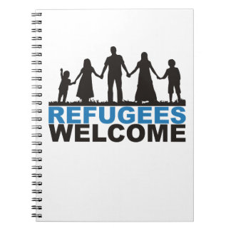 Caderno Espiral Boa vinda dos refugiados