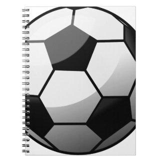Caderno Espiral Bola de futebol